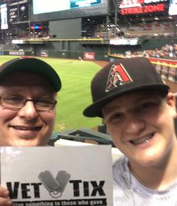 Bradlee attended Arizona Diamondbacks vs. San Diego Padres - MLB on Sep 3rd 2018 via VetTix