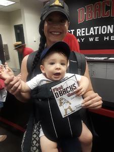 Michelle attended Arizona Diamondbacks vs. San Diego Padres - MLB on Sep 3rd 2018 via VetTix