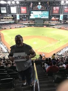James attended Arizona Diamondbacks vs. Colorado Rockies - MLB on Sep 23rd 2018 via VetTix
