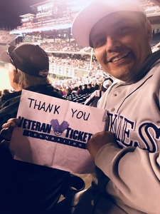Santino attended Colorado Rockies vs. Seattle Mariners - MLB - Military Appreciation on Jul 15th 2018 via VetTix