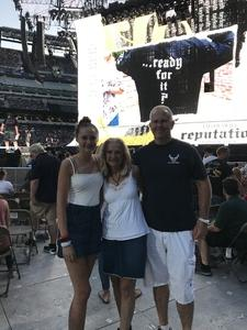 Myles attended Taylor Swift Reputation Stadium Tour on Jul 20th 2018 via VetTix