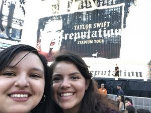 Priscilla attended Taylor Swift Reputation Stadium Tour on Jul 20th 2018 via VetTix