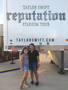 Raymond attended Taylor Swift Reputation Stadium Tour on Jul 20th 2018 via VetTix