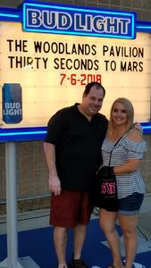 Enrique attended Thirty Seconds to Mars on Jul 6th 2018 via VetTix