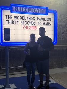 Michael attended Thirty Seconds to Mars on Jul 6th 2018 via VetTix