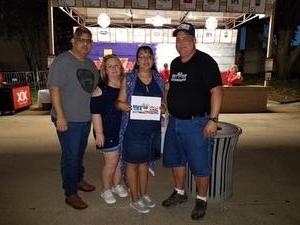 Monk attended Chicago / Reo Speedwagon on Jun 29th 2018 via VetTix