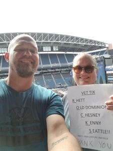 W. Keizer attended Kenny Chesney: Trip Around the Sun Tour With Old Dominion on Jul 7th 2018 via VetTix