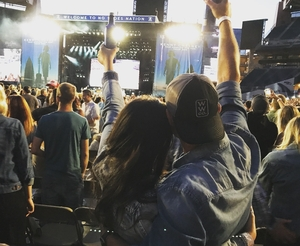 Tay & Dev attended Kenny Chesney: Trip Around the Sun Tour With Old Dominion on Jul 7th 2018 via VetTix