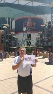 Richard attended Arizona Diamondbacks vs. San Francisco Giants - MLB on Jul 1st 2018 via VetTix