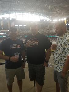 David attended Arizona Diamondbacks vs. San Francisco Giants - MLB on Jul 1st 2018 via VetTix
