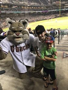 Sheldon attended Arizona Diamondbacks vs. San Diego Padres - MLB on Jul 5th 2018 via VetTix
