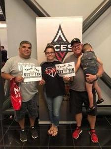 Wayne attended Hoops for Troops - Las Vegas Aces. Vs. Chicago Sky - WNBA on Jul 5th 2018 via VetTix