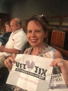 SHARON attended The Musical: 42nd Street - Friday on Jul 6th 2018 via VetTix