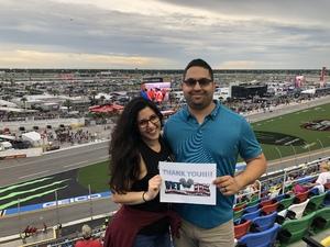 Eugenio attended Coca-cola Firecracker 250 at Daytona on Jul 6th 2018 via VetTix