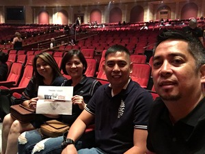 FERMIN attended Mariah Carey - the Butterfly Returns on Jul 5th 2018 via VetTix