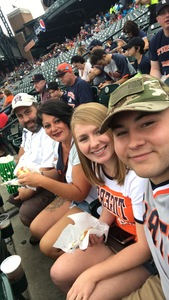 Nolan attended Detroit Tigers vs. Cincinnati Reds - MLB on Aug 1st 2018 via VetTix