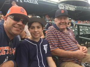 Adam attended Detroit Tigers vs. Cincinnati Reds - MLB on Aug 1st 2018 via VetTix