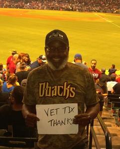 Perry attended Arizona Diamondbacks vs. Texas Rangers - MLB on Jul 30th 2018 via VetTix