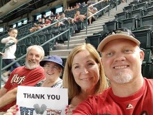 Ward attended Arizona Diamondbacks vs. Texas Rangers - MLB on Jul 30th 2018 via VetTix