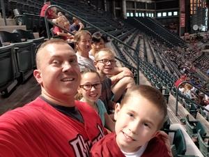 Dana attended Arizona Diamondbacks vs. Texas Rangers - MLB on Jul 30th 2018 via VetTix
