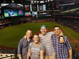 Jennifer attended Arizona Diamondbacks vs. Texas Rangers - MLB on Jul 30th 2018 via VetTix