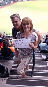 Ruby attended Arizona Diamondbacks vs. San Francisco Giants - MLB on Aug 3rd 2018 via VetTix