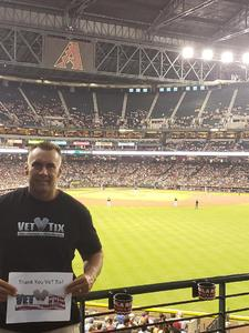 William attended Arizona Diamondbacks vs. San Francisco Giants - MLB on Aug 3rd 2018 via VetTix