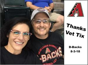 Chuck D. attended Arizona Diamondbacks vs. San Francisco Giants - MLB on Aug 3rd 2018 via VetTix