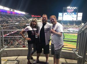 Zac attended Minnesota Twins vs. Kansas City Royals - MLB on Aug 4th 2018 via VetTix