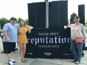 John attended Taylor Swift Reputation Tour on Aug 25th 2018 via VetTix