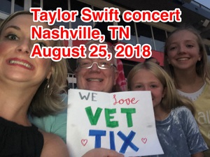 William attended Taylor Swift Reputation Tour on Aug 25th 2018 via VetTix