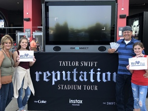 James attended Taylor Swift Reputation Tour on Aug 25th 2018 via VetTix