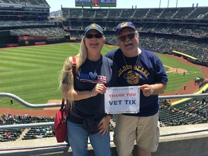Linnea Weston Duncan attended Oakland Athletics vs. San Francisco Giants - MLB on Jul 22nd 2018 via VetTix