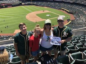 Gary attended Oakland Athletics vs. San Francisco Giants - MLB on Jul 22nd 2018 via VetTix