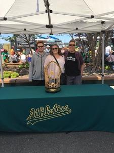 Phillip attended Oakland Athletics vs. San Francisco Giants - MLB on Jul 22nd 2018 via VetTix