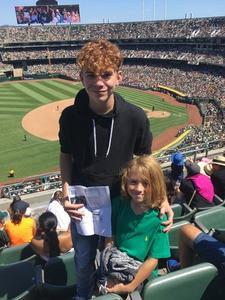Ryan attended Oakland Athletics vs. San Francisco Giants - MLB on Jul 22nd 2018 via VetTix