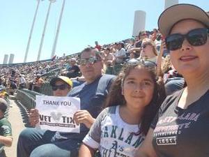 RG attended Oakland Athletics vs. San Francisco Giants - MLB on Jul 22nd 2018 via VetTix