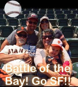 Teressa attended Oakland Athletics vs. San Francisco Giants - MLB on Jul 22nd 2018 via VetTix