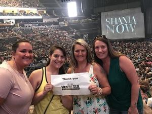 Michelle attended Shania Twain: Now on Jul 17th 2018 via VetTix