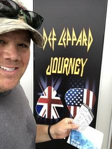 Jeffrey attended Journey and Def Leppard - Live in Concert on Jul 18th 2018 via VetTix