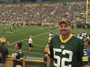 Jeff attended Green Bay Packers vs. Pittsburgh Steelers - NFL Preseason on Aug 16th 2018 via VetTix