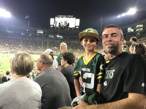 Joseph attended Green Bay Packers vs. Pittsburgh Steelers - NFL Preseason on Aug 16th 2018 via VetTix
