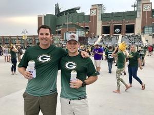 Jacob attended Green Bay Packers vs. Pittsburgh Steelers - NFL Preseason on Aug 16th 2018 via VetTix