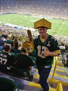 Jeffrey attended Green Bay Packers vs. Pittsburgh Steelers - NFL Preseason on Aug 16th 2018 via VetTix