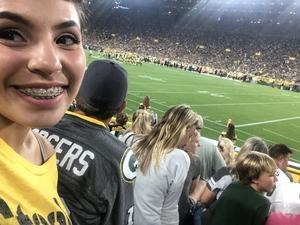 Aubrey attended Green Bay Packers vs. Pittsburgh Steelers - NFL Preseason on Aug 16th 2018 via VetTix