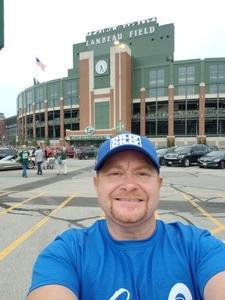 Shane Sammons attended Green Bay Packers vs. Pittsburgh Steelers - NFL Preseason on Aug 16th 2018 via VetTix