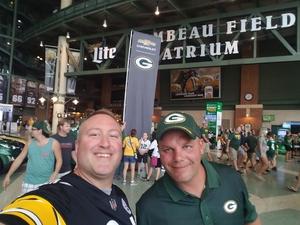 Erik attended Green Bay Packers vs. Pittsburgh Steelers - NFL Preseason on Aug 16th 2018 via VetTix