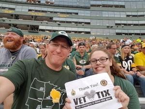 Mike attended Green Bay Packers vs. Pittsburgh Steelers - NFL Preseason on Aug 16th 2018 via VetTix