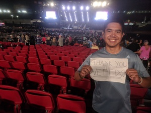 Franz attended Pentatonix on Jul 19th 2018 via VetTix