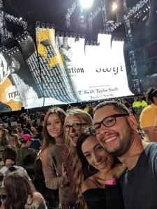 Justin attended Taylor Swift Reputation Tour on Sep 8th 2018 via VetTix